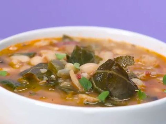 How To Make a White Bean and Collard Green Soup