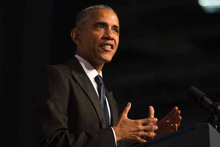 Former President Barack Obama breaks his silence and speaks out against Trump
