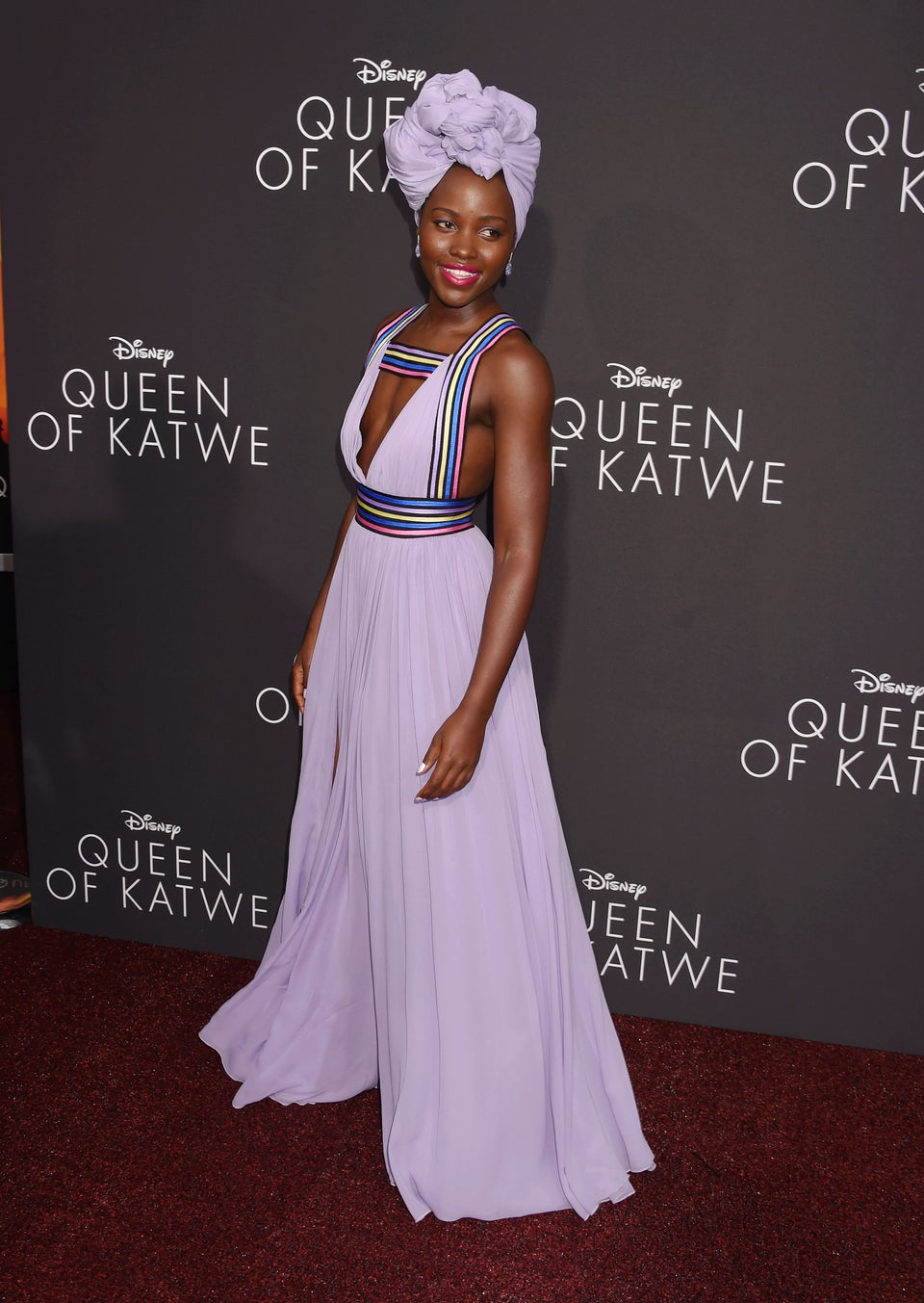Look of the Day: Lupita Nyong'o Delivers a Royal Fashion Moment in Stunning Purple Gown