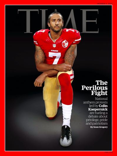 Colin Kaepernick Covers 'TIME' For His 'Perilous Fight'