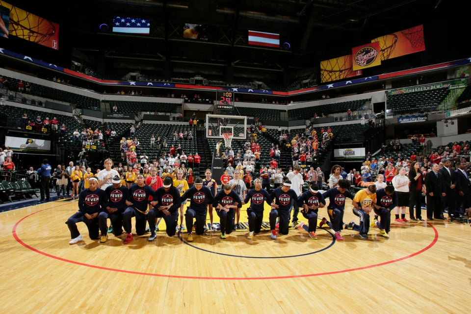 Who Run The World? The Entire WNBA Indiana Fever Team Just Kneeled During The National Anthem