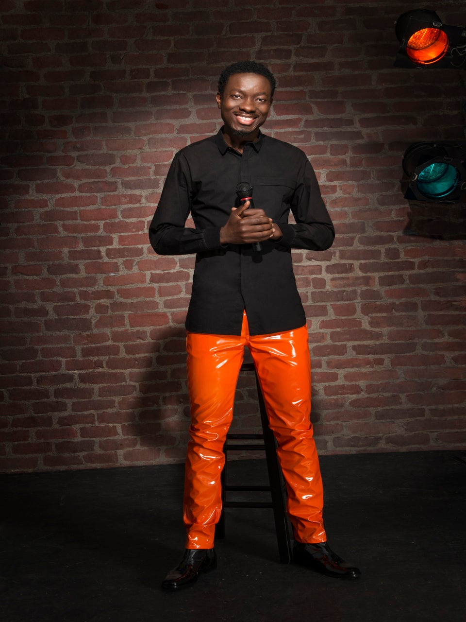 Michael Blackson Protests National Anthem By Taking A Brief Nap