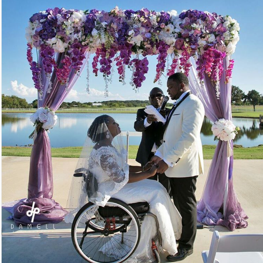 Black Wedding Moment Of The Day: Wheelchair Bound Bride Parties Her ...