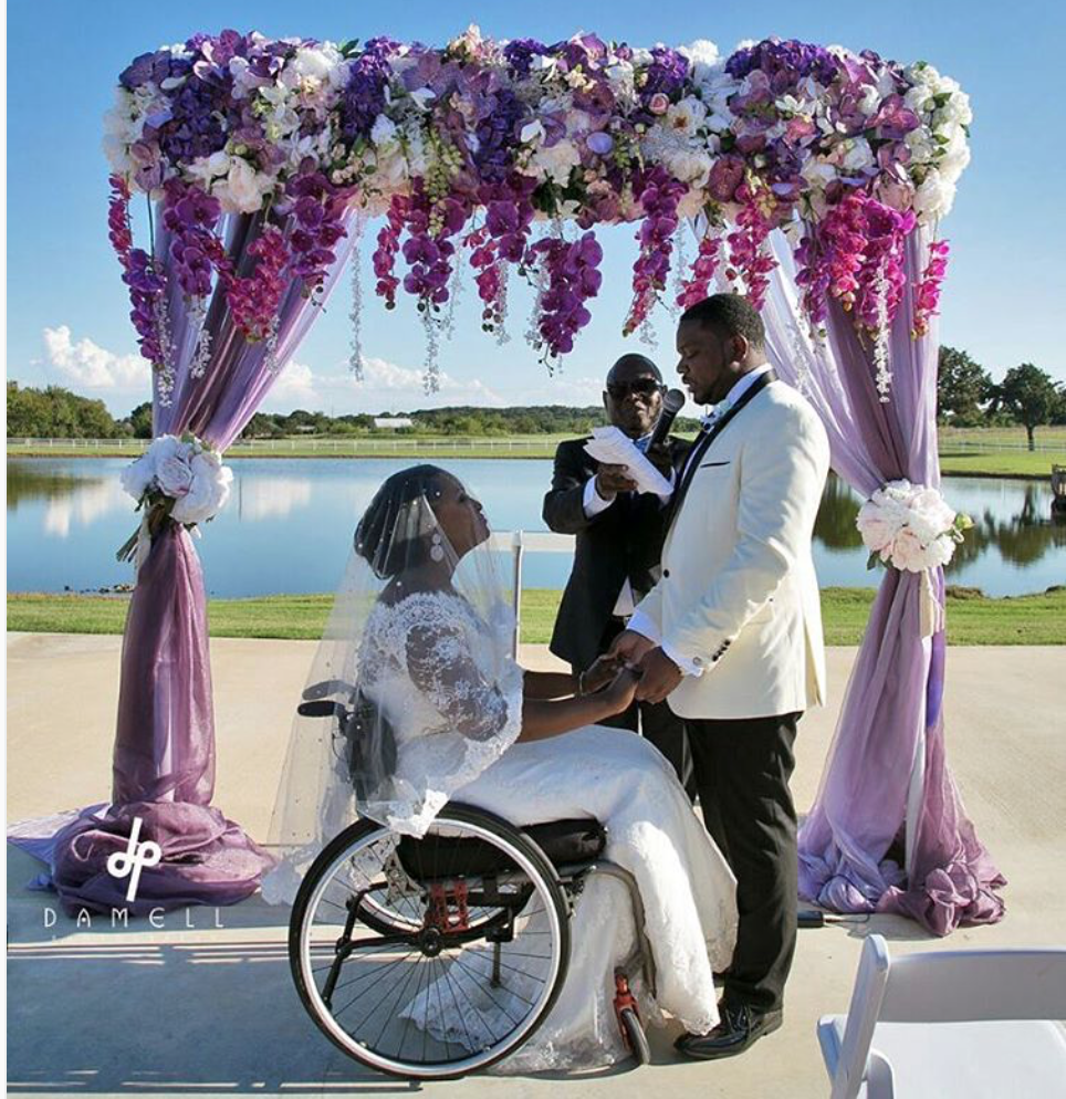 Black Wedding Moment Of The Day: Wheelchair Bound Bride Parties Her