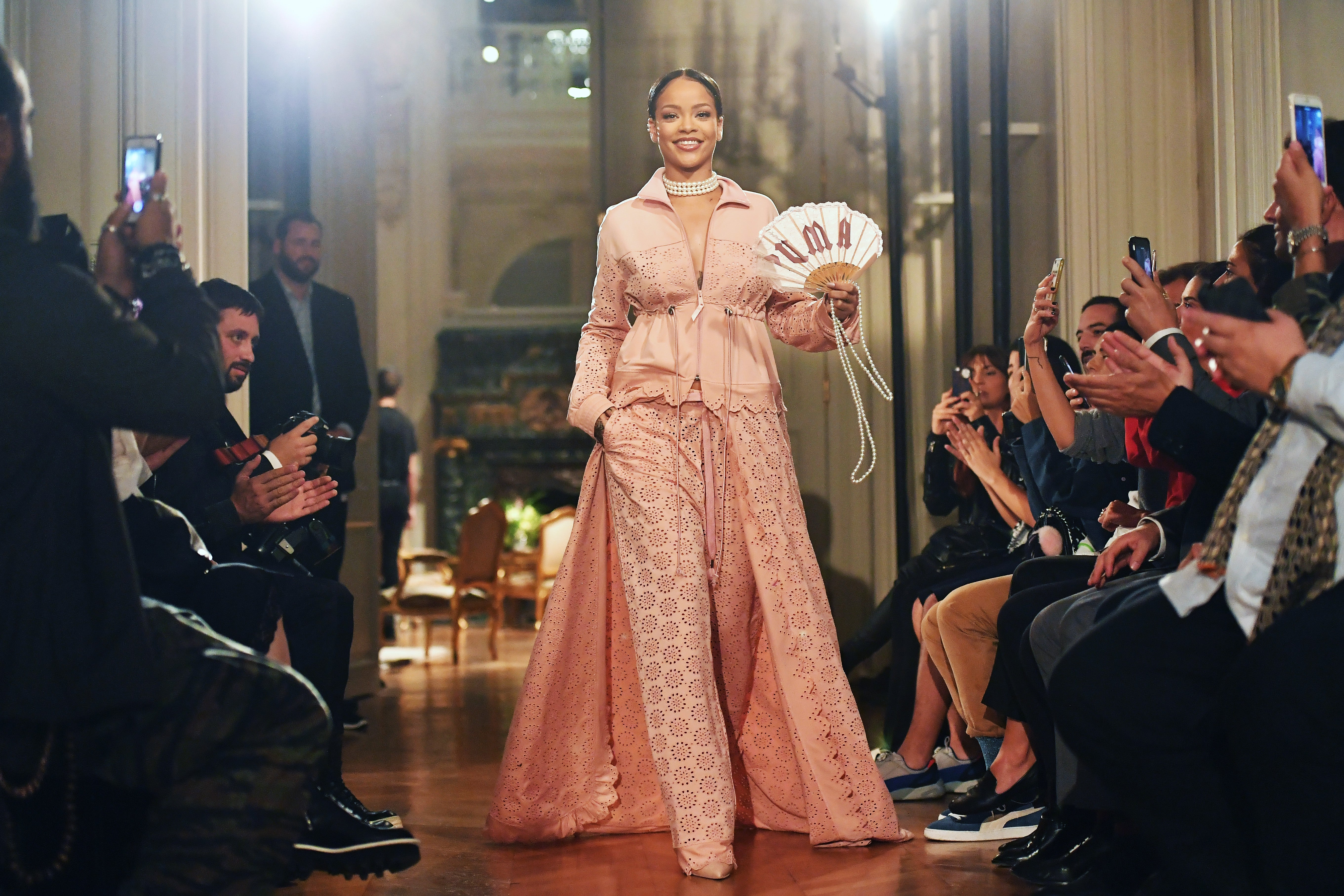 Escultura posterior lengua  Rihanna Brought FENTY x PUMA to Paris Fashion Week For The First Time,  Here's Everything You Need to See - Essence