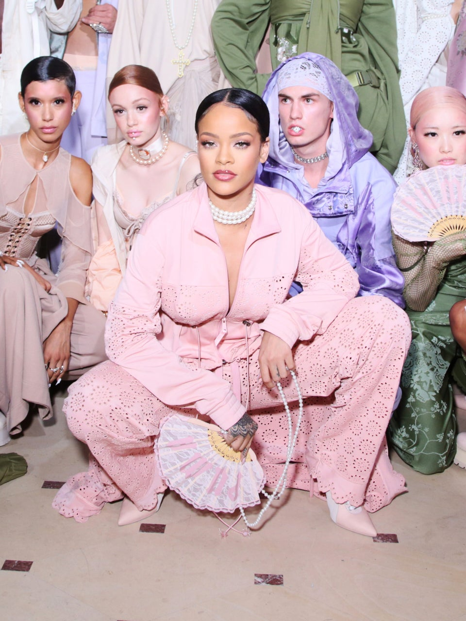Rihanna Redefined Low Ponytails For Her PFW Show
