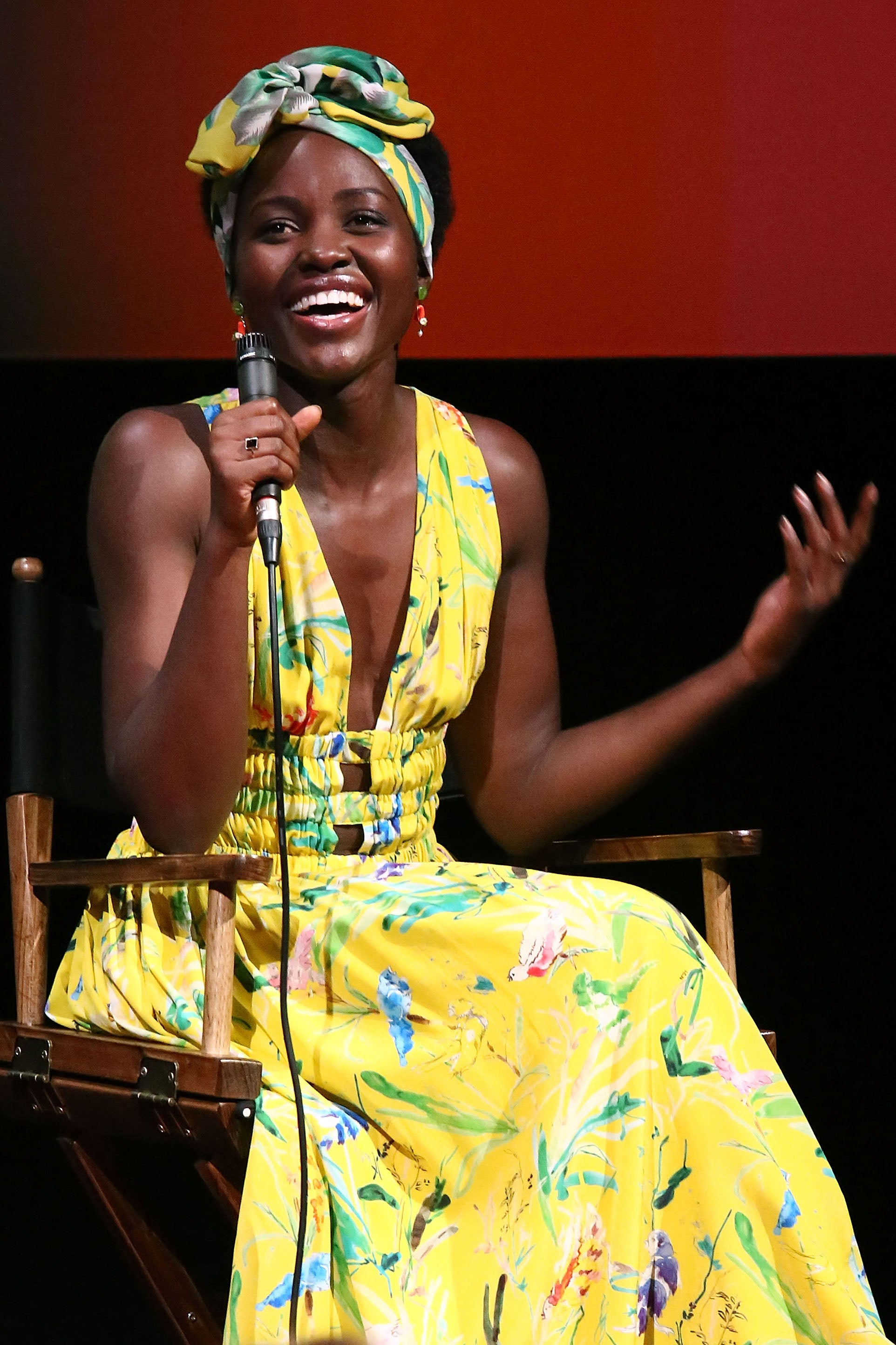 Lupita Nyong'o Takes A Break From 'Black Panther To TryThe #GetOutChallenge