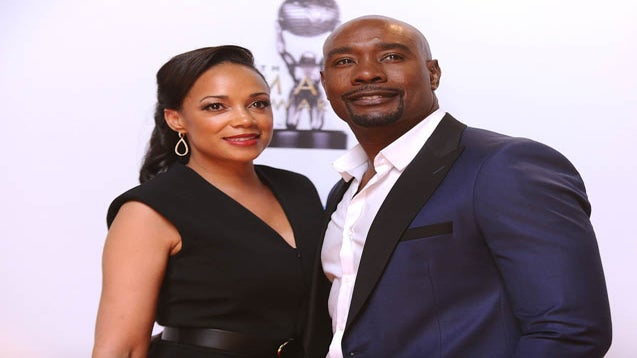 Morris Chestnut & Wife Have Date Night At 'When the Bough Breaks' Movie Premiere
