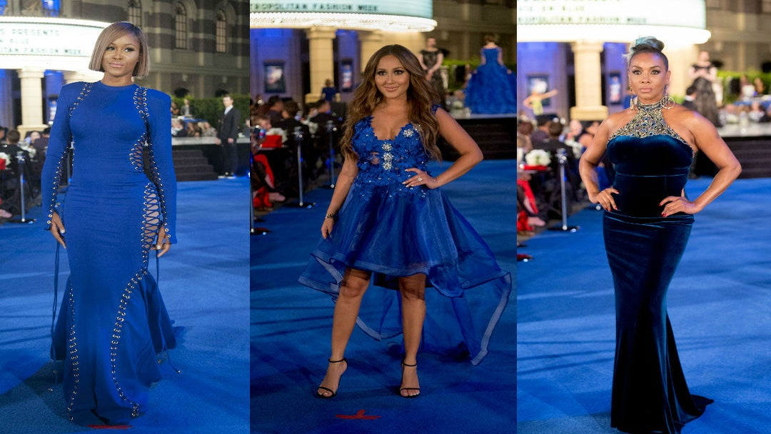 Eve, Vivica A. Fox And Adrienne Bailon Blush In Blue At Autism Speaks Fashion Gala