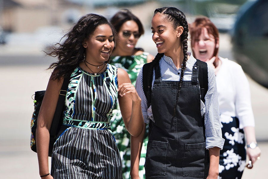 What President Obama Told His Daughters About Donald Trump