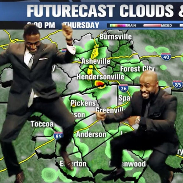 We Bet You Can't Watch This Meteorologist And His Friend Dancing Without Cracking A Smile