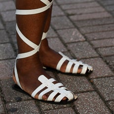 Accessories Street Style: 10 Reasons We're Loving the Gladiator Trend