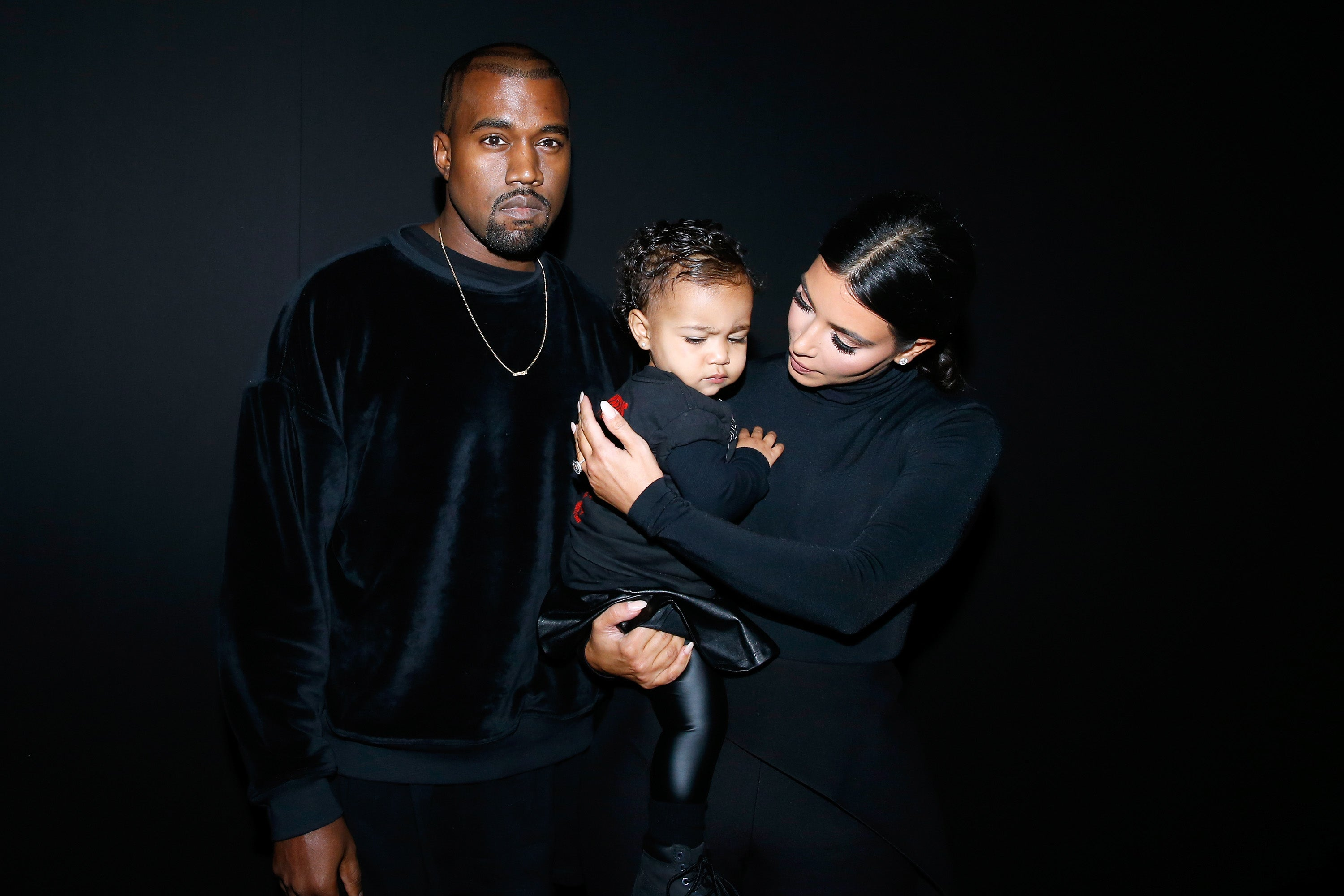 Kanye West shares family holiday photo with Kim, North, and Saint