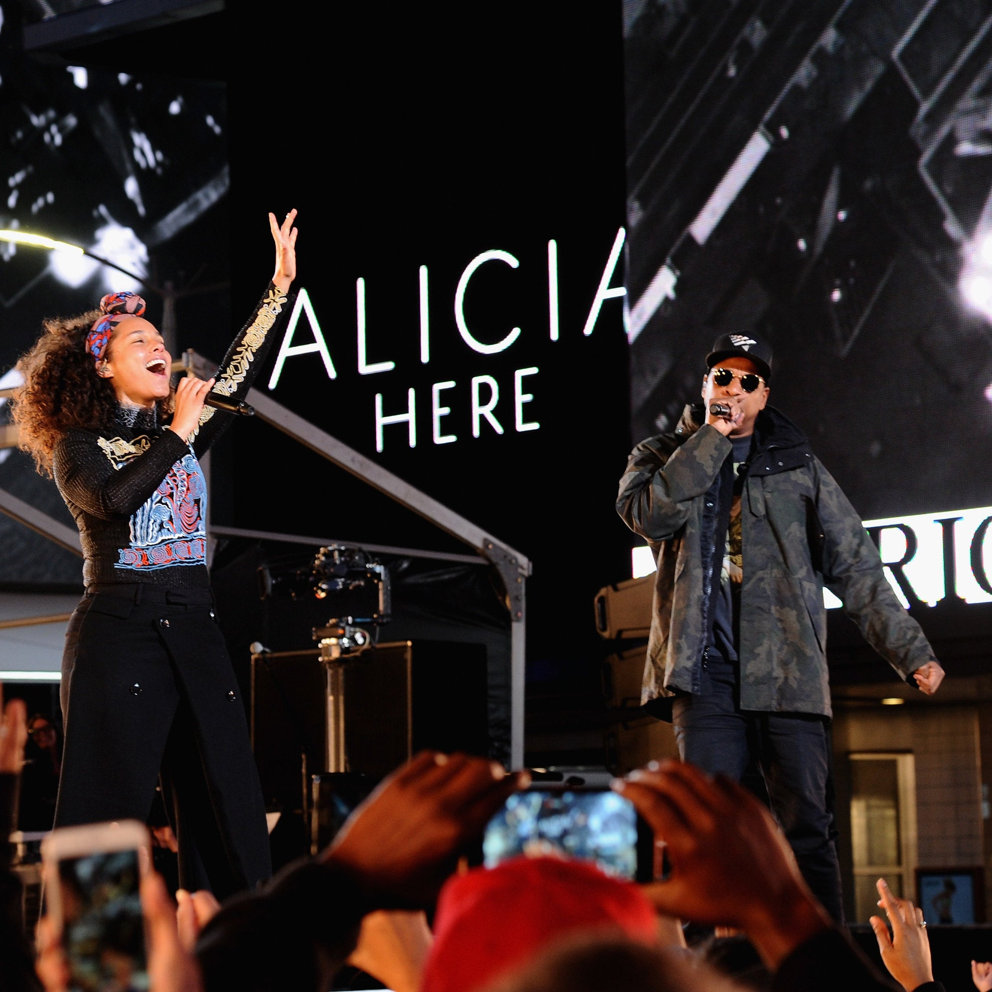 Alicia Keys Fires Back At Donald Trump AndLights Up The Stage With Jay Z In NYC
