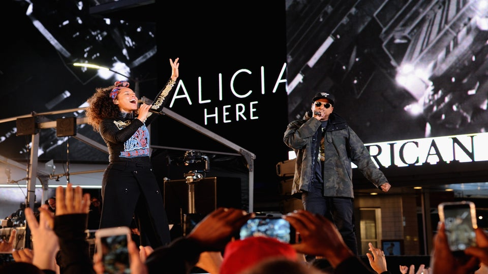 Alicia Keys Fires Back At Donald Trump And Lights Up The Stage With Jay Z In NYC