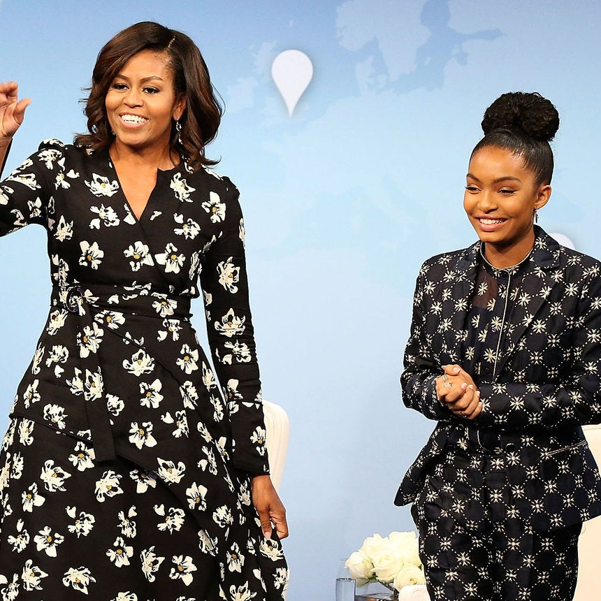 Look of the Day: Michelle Obama and Yara Shahidi Are Super Chic in Pretty Prints