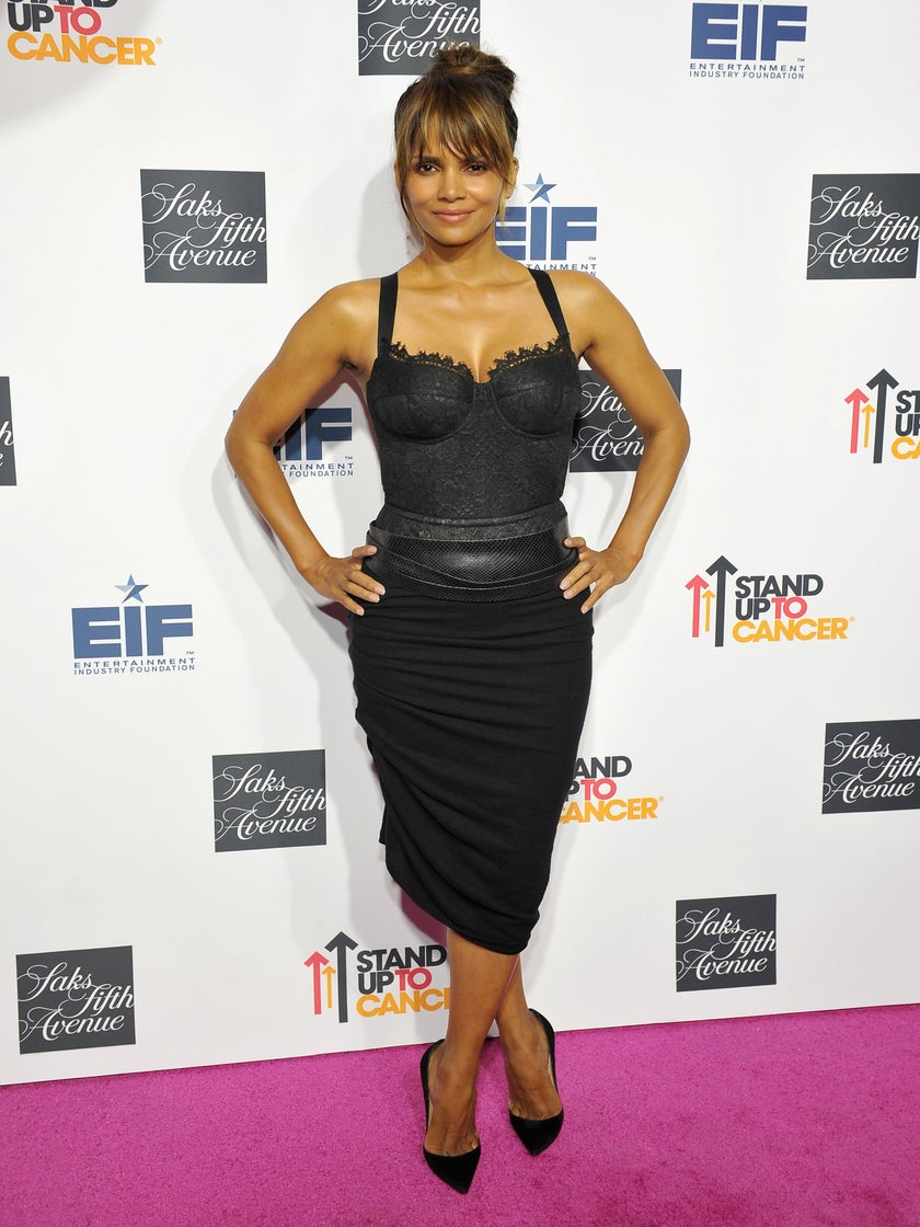 Halle Berry Flaunts Her Curves for a Good Cause in a Lingerie-Inspired Bustier Look