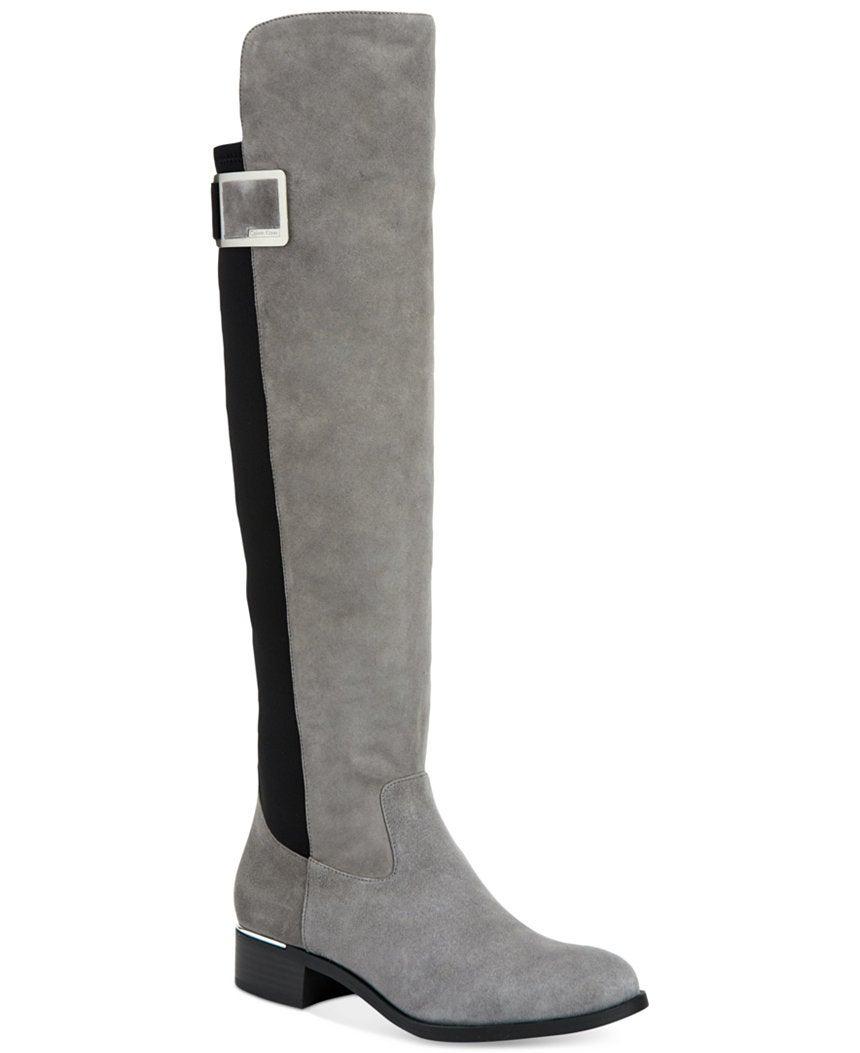 a18bbad4f Calvin Klein Women's Cyra Wide-Calf Over-The-Knee Boots, $199, macys.com