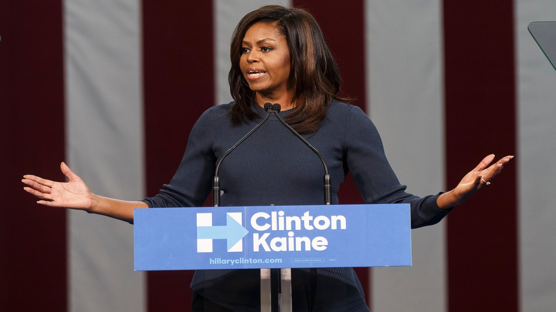 'It Has Shaken Me To My Core:' Michelle Obama Delivers Emotional Speech On Trump Sexual Assault Allegations