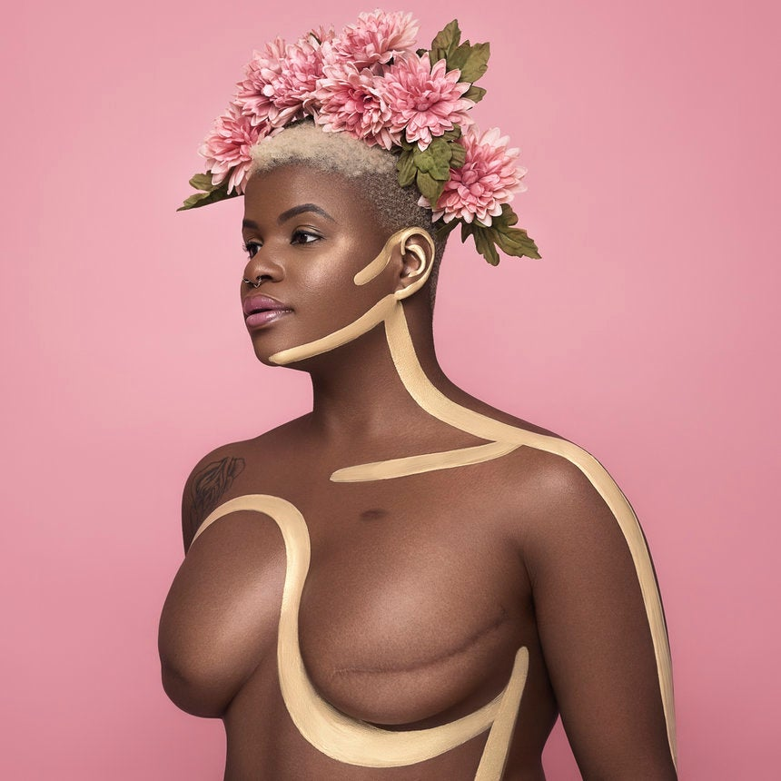 This Painted Photo Series Featuring A Gorgeous Breast Cancer Survivor Will Blow You Away
