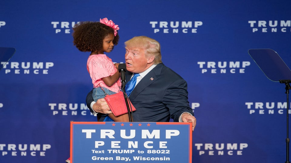 Donald Trump Tried To Kiss A Little Girl At A Rally And Her Reaction Was Priceless
