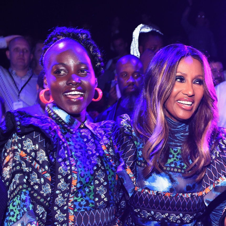 Lupita Nyong'o, Iman and More Came Out for the Kenzo x H&M Runway Show and It was Lit