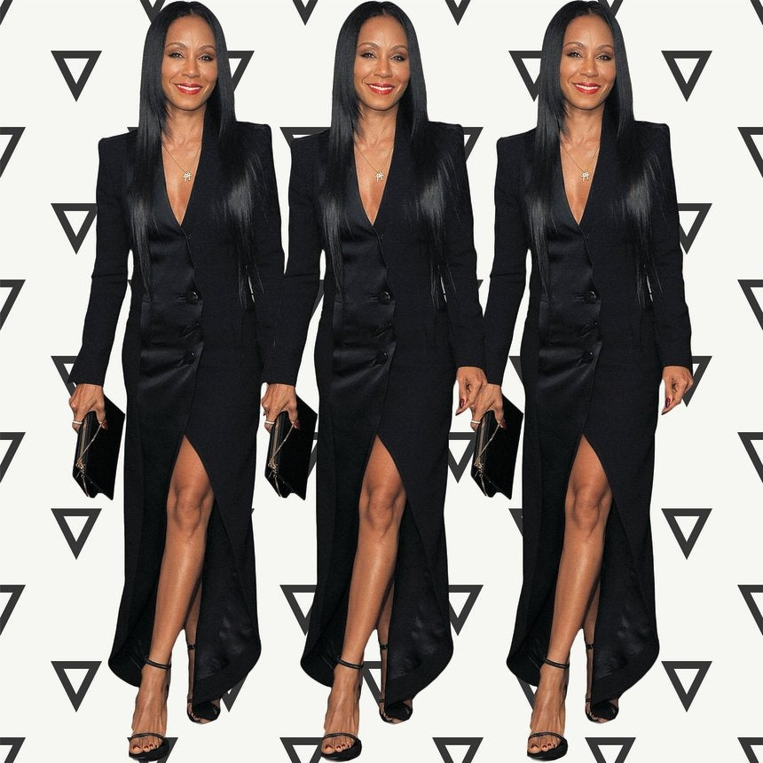 Look of the Day: Jada Pinkett Smith is #StyleGoals in Stunning Black Tuxedo Dress