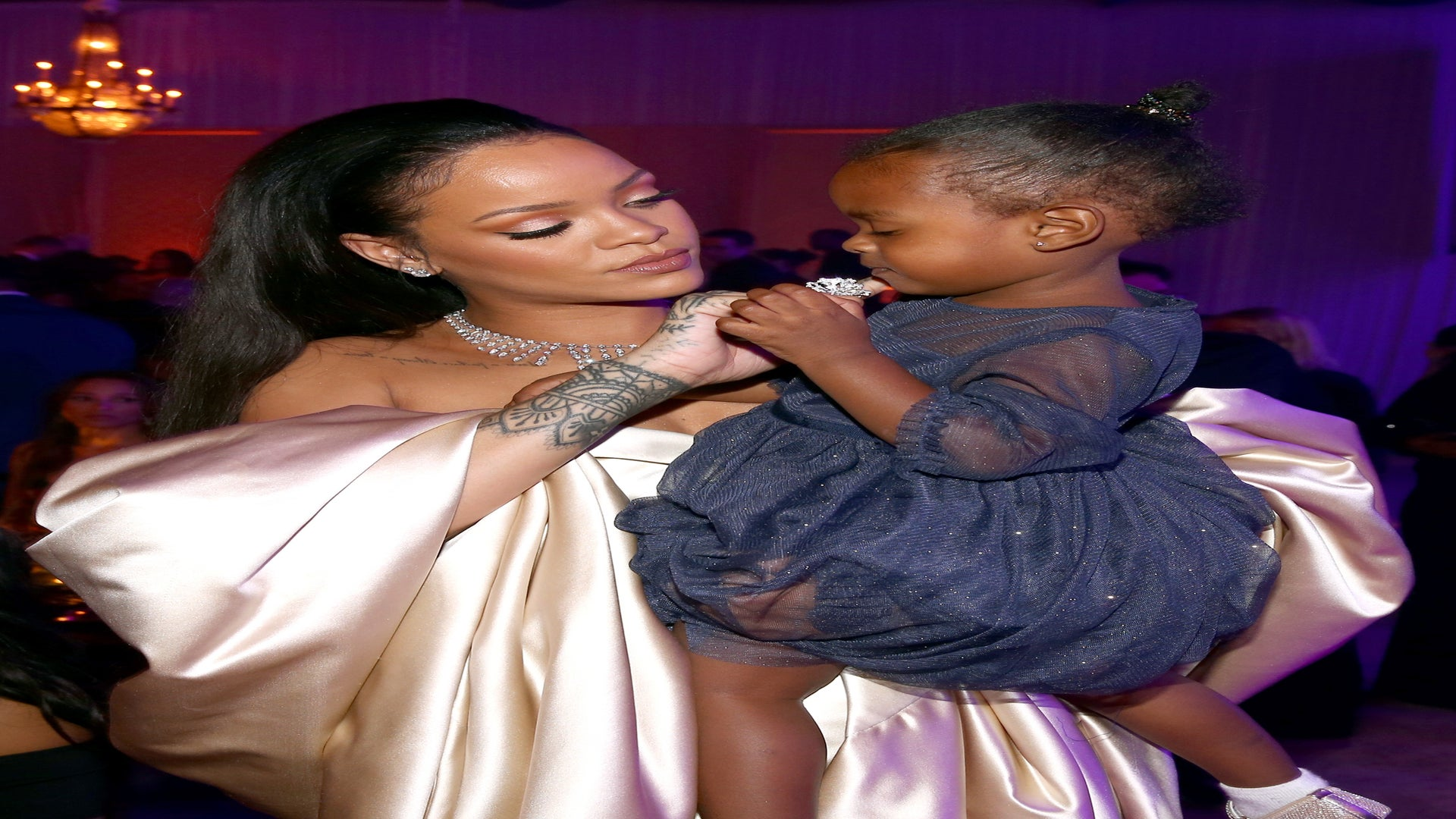 This Video of Rihanna Doing Her Niece's Nails Will Melt Your Heart