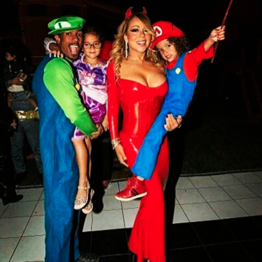 Friendly Exes Mariah Carey and Nick Cannon Celebrate Halloween Early With Their Twins
