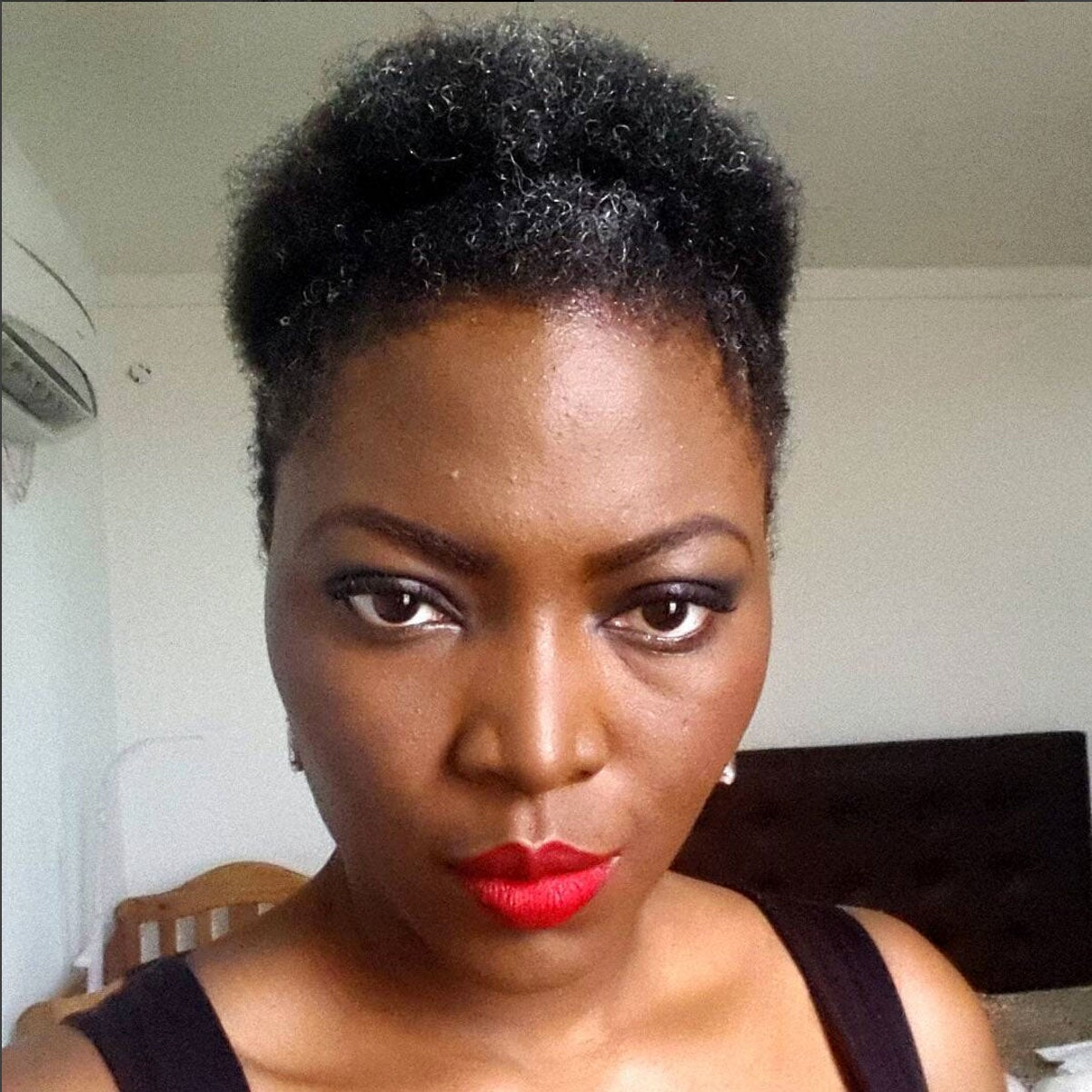 Beautiful Black Woman With Gray Hair Essence