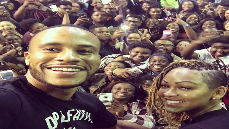 Meagan Good and DeVon Franklin Bring a Message of Celibacy and Love to Savannah State's Homecoming