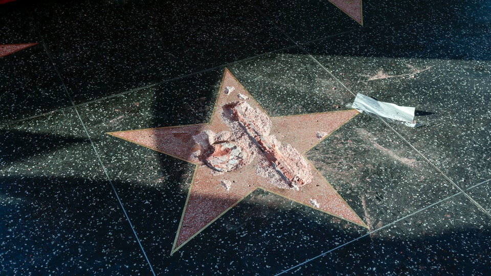 Someone Completely Destroyed Donald Trump's Walk Of Fame Star