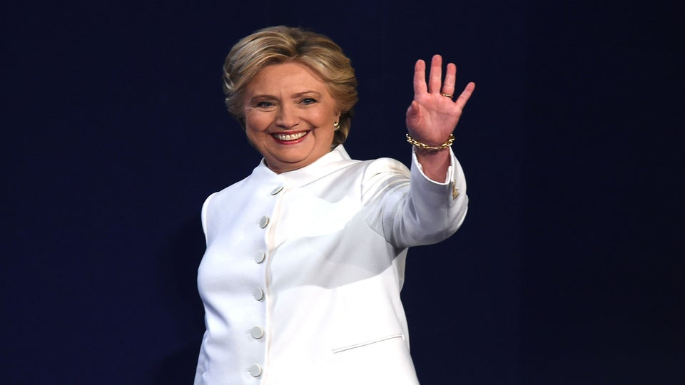 Were Hillary Clinton's Debate Outfits Inspired By Death Row Records? Maybe.