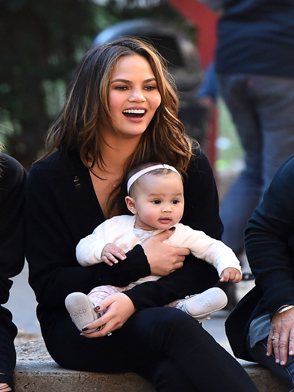 Chrissy Teigen and Daughter Luna's First Family Portrait with Santa Includes a Stand-In John Legend