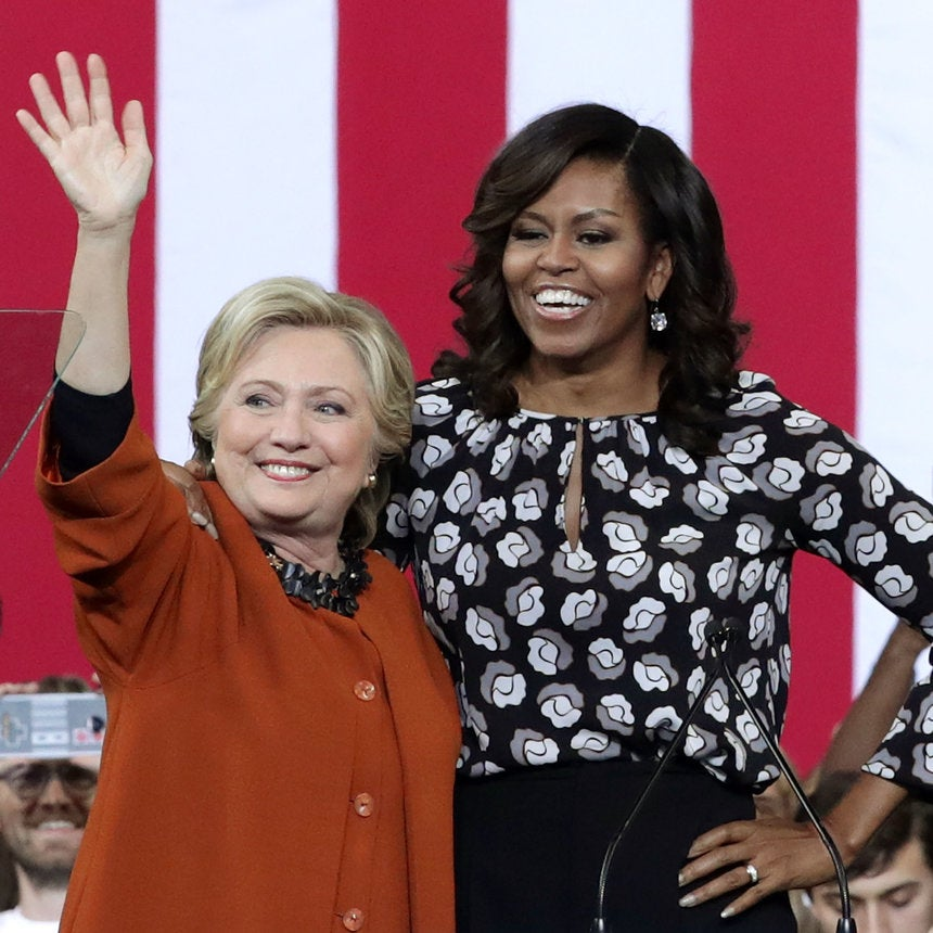 This Video Of Michelle Obama Dancing Behind Hillary Clinton Is Girl Power Goals