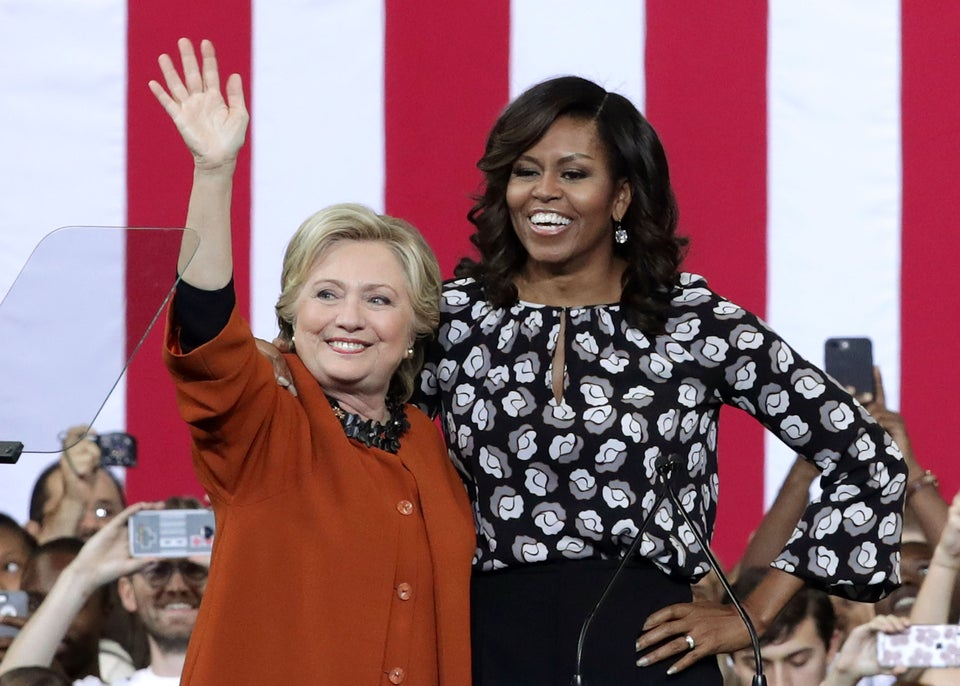 Hillary Clinton And Michelle Obama Campaign Together For The First Time Ever