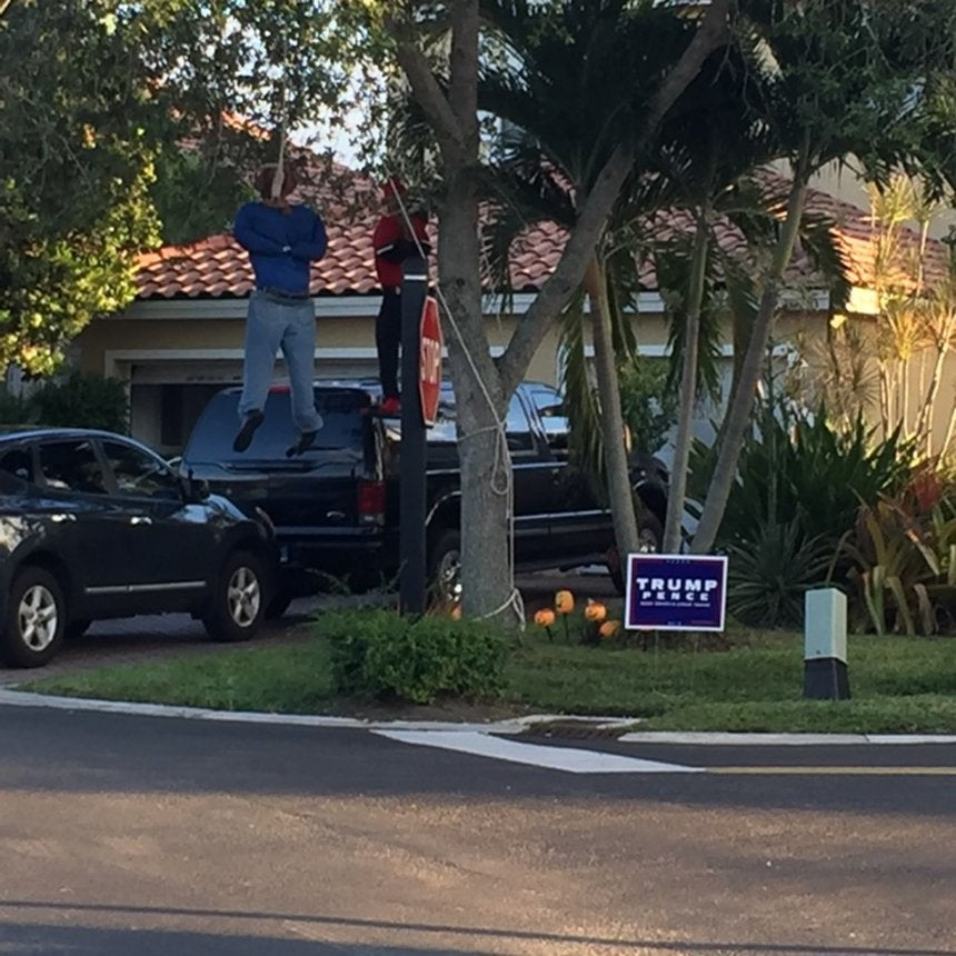This Trump Supporter's Racist Halloween Display Is Absolutely Disgraceful