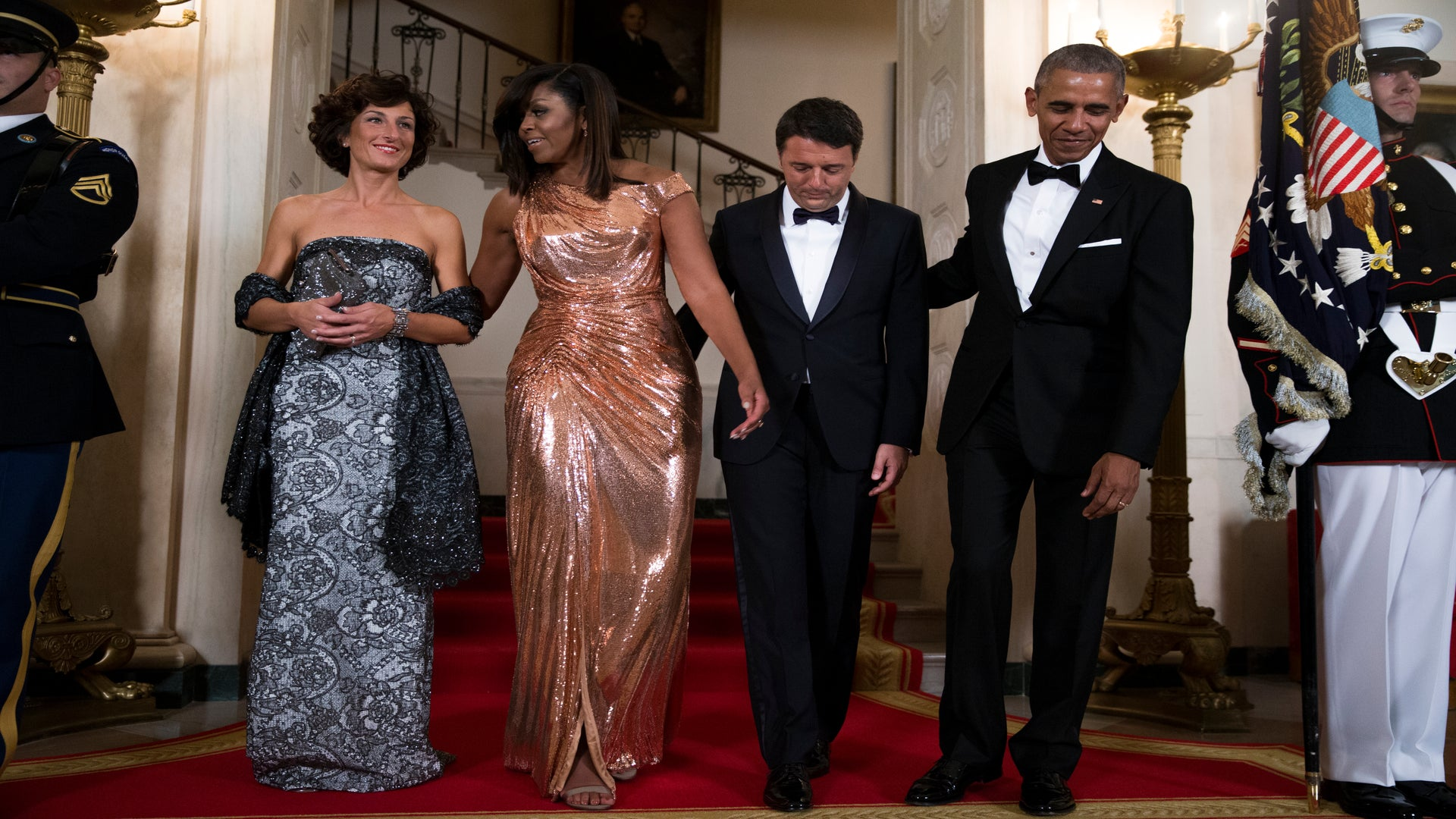 Michelle Obama's Hair Is Laid To Perfection For Her Final State Dinner