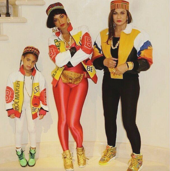 Beyoncé, Jay Z, Blue Ivy And Tina Lawson Slay Their 80s-Inspired Halloween Costumes