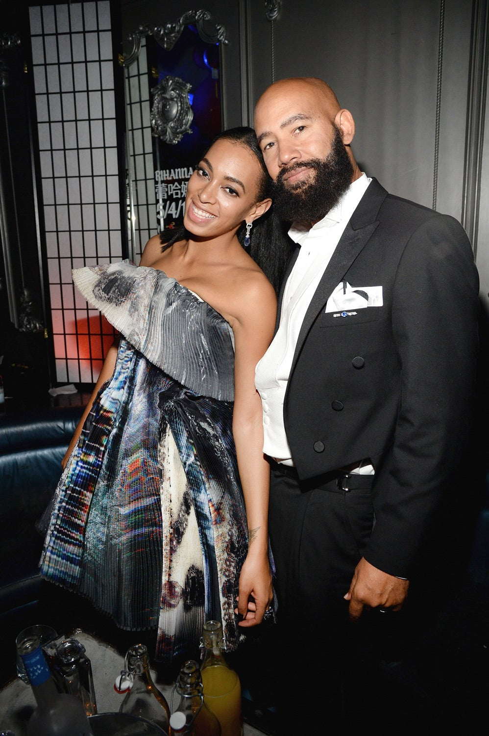 solange and her husband alan ferguson last fought about to black