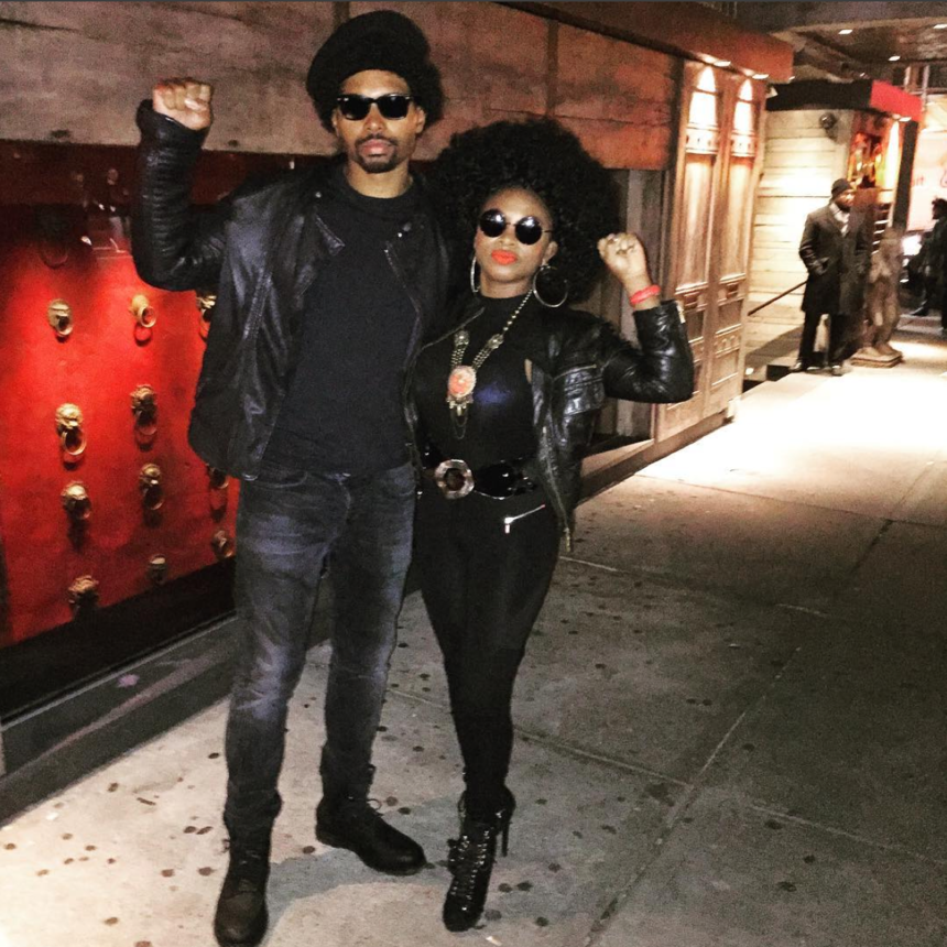 from paying homage to the black panther movement to recreating iconic images of african american greats like malcolm x and angela davis halloween was