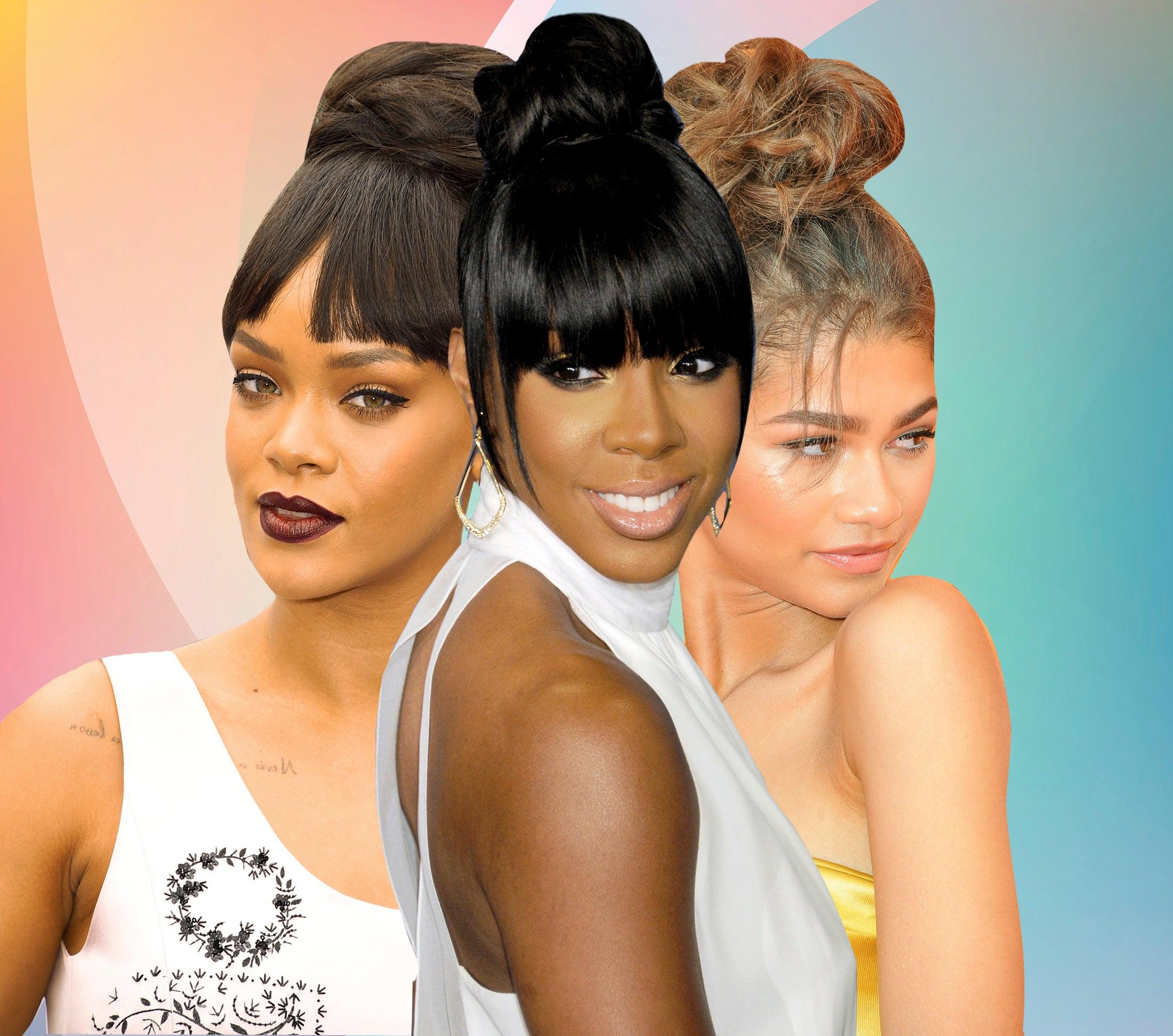 Best Celebrity Messy Bun Hairstyles Essence