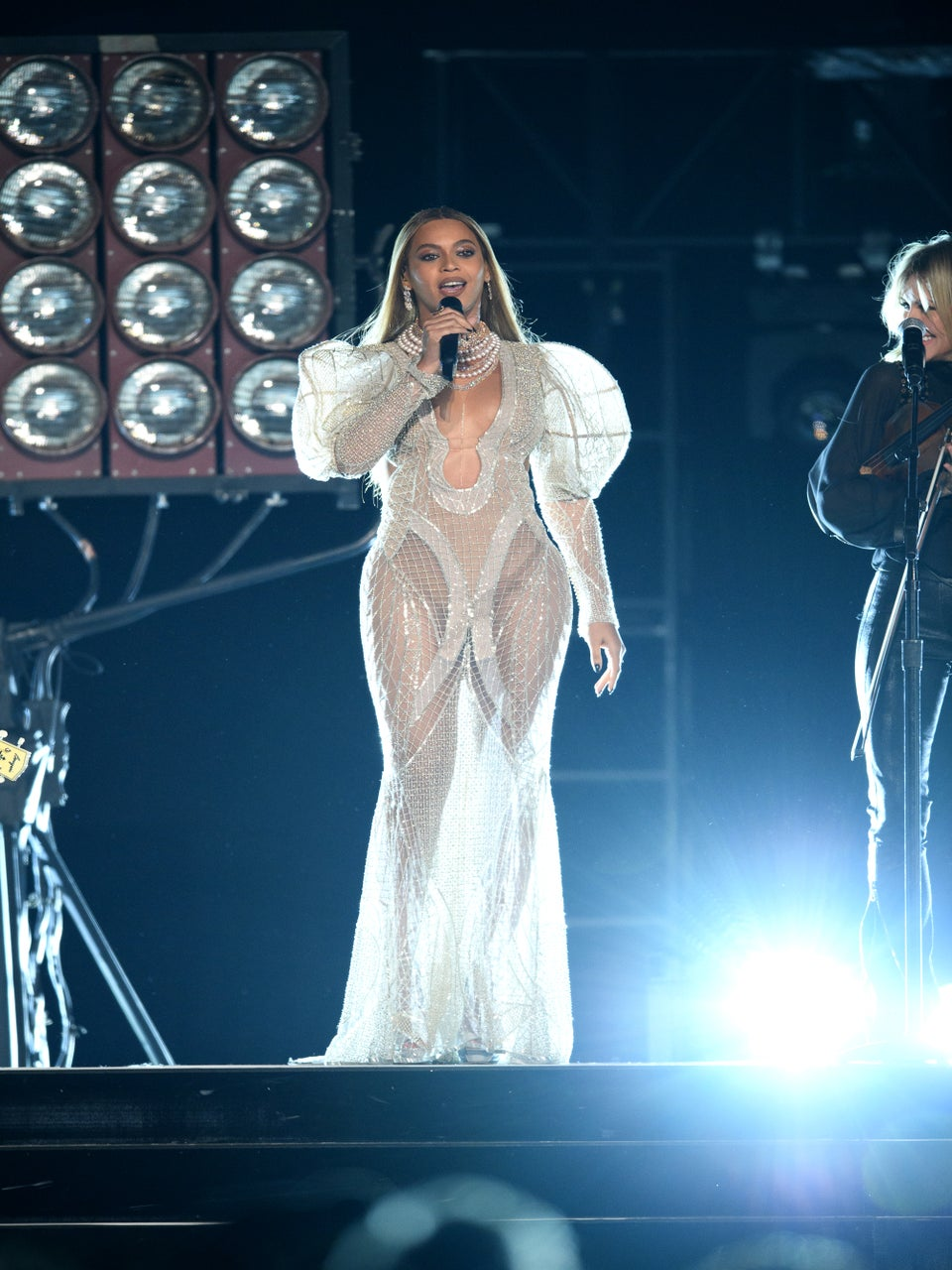 Beyoncé Stuns in Gorgeous White Gowns at the CMAs