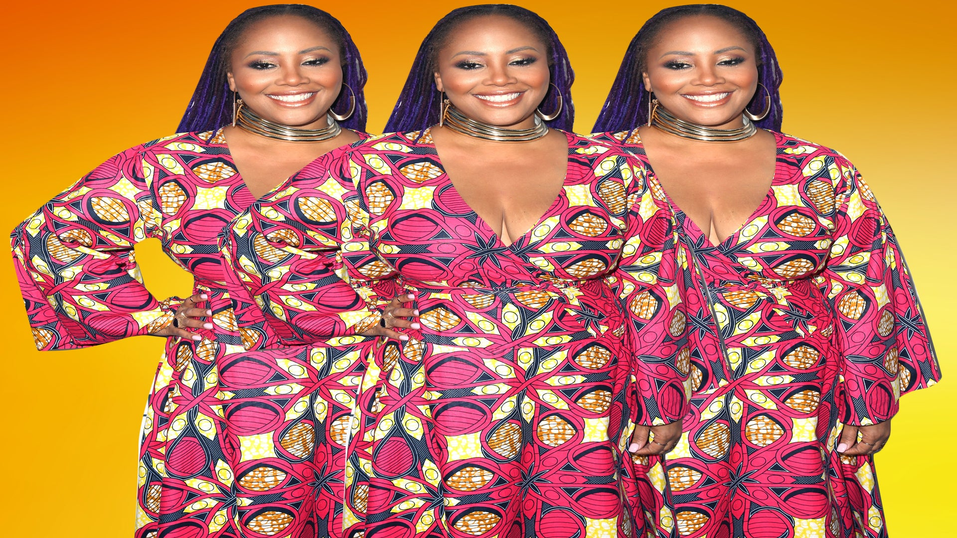 Look of the Day: Lalah Hathaway is Stunning in Vibrant Printed Dress