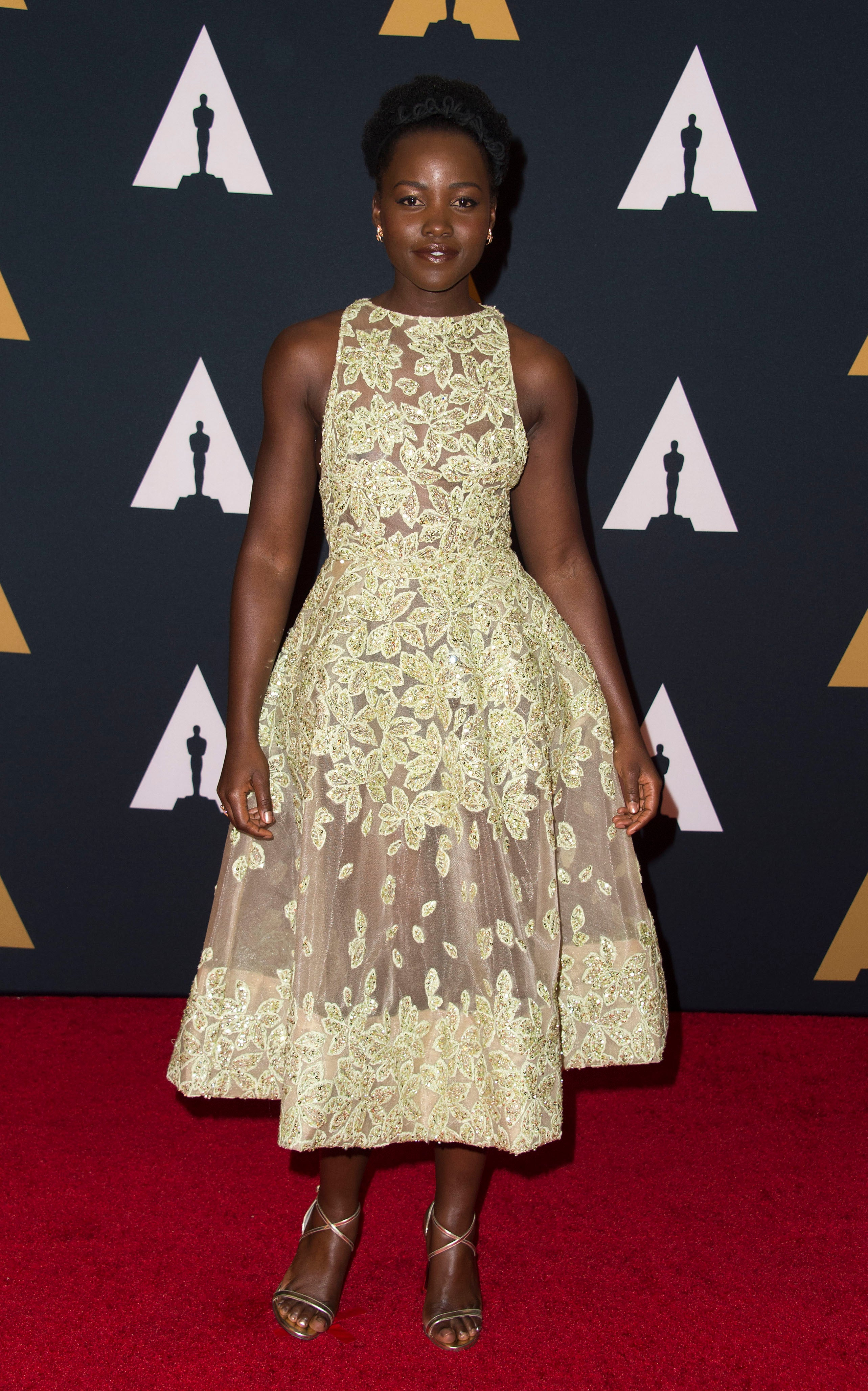 Lupita Nyong\'o is a Vision in Gorgeous Floral Elie Saab Gown - Essence