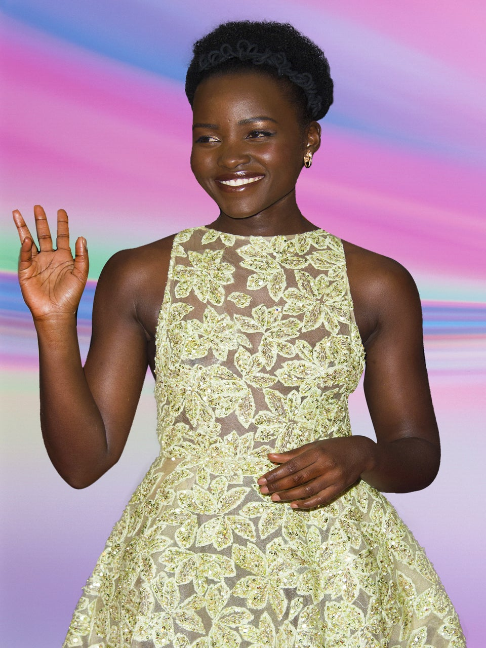Lupita Nyong'o is a Vision in Gorgeous Floral Elie Saab Gown
