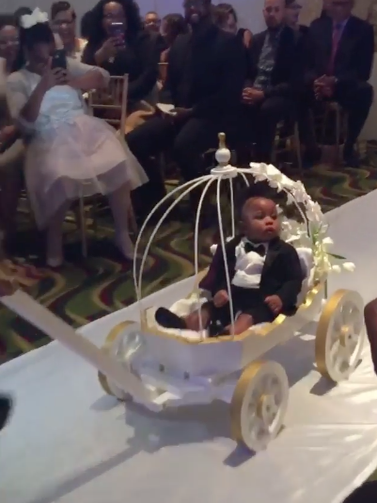 Black Wedding Moment Of The Day: This Bride And Groom's Son Is Ushered Down The Aisle In The Most Adorable Way