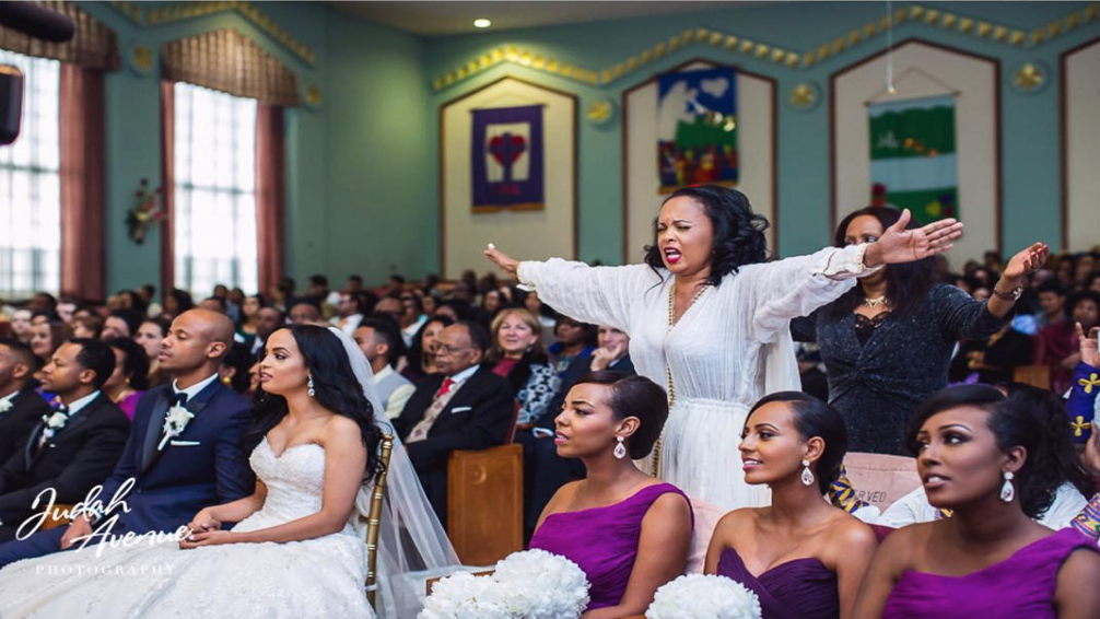 Black Wedding Moment Of The Day: This Mom Praying With Outstretched Arms Over Bride And Groom Is Taking Us To Church