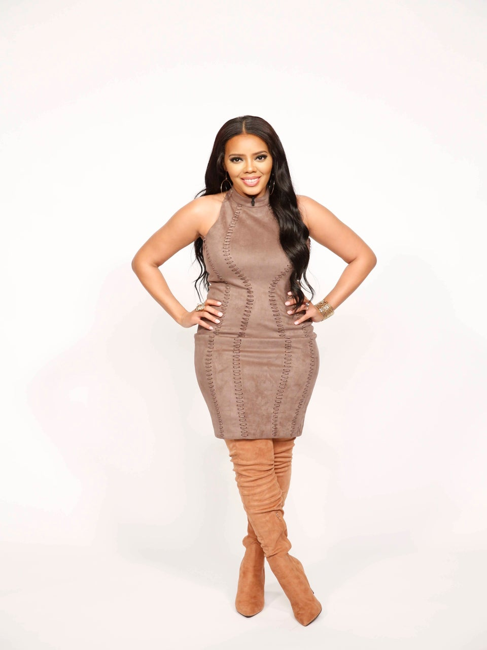 Angela Simmons talks about her post baby body on The Real