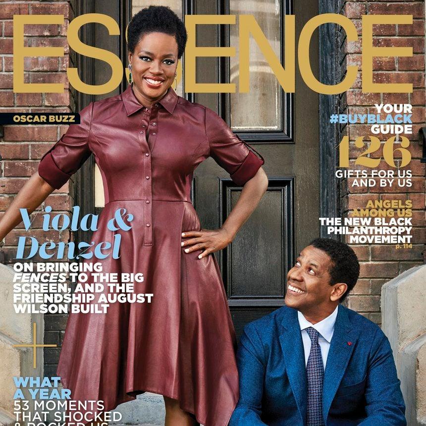 Denzel Washington and Viola Davis Shine on the December issue of ESSENCE